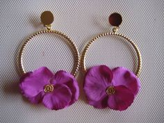 (26) vestidos de flamenca y ole¡¡¡¡ Diy Earrings, Statement Earrings, Fashion Earrings, Earrings Handmade, Fashion Jewelry, Wire Jewelry, Jewlery, Wedding Rings Rose Gold, Diamond Flower
