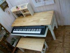 アンティーク/学習机/PCデスク/ピアノ台/作業台セット/Handmade - ★ハンドメイド木工房★vivre studio