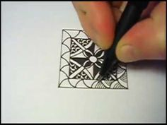 ▶ A Simple Square Zentangle - YouTube