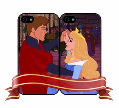 Sleeping Beauty Aurora and Phillip Case Matching Phone Case Lover Case Lover Phone Case For iPhone4/4s iPhone5/5s/5c Galaxy s3 Galaxy s4 on Etsy, $12.99