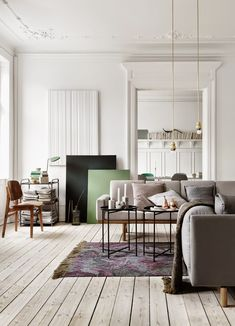 Nordic living room in neutral shades