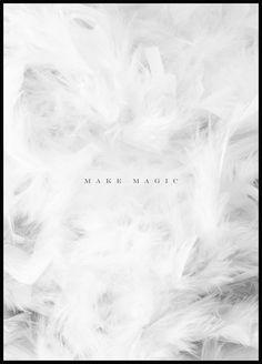 Make Magic Poster poster, texttavla, citat tavla, citat poster