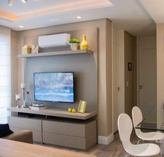 Simple And Effective Interior Home Design Solutions Modern Tv Unit Designs, Modern Tv Units, Living Room Tv Unit Designs, Living Room Sofa Design, Small Apartment Design, Small Apartment Living, Small Apartments, Modern Tv Room, Tv Unit Decor