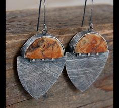 Silver earrings with amber / ethnic inspiration – a unique product by atelier4 via en.DaWanda.com
