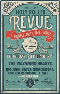 Vintage inspired #Poster design for Country/Roots/Folk Music Series in Vancouver