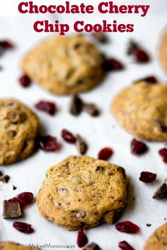 Chocolate Cherry Chip Cookies. Bakery style cookies with a twist and are oh so tasty. We love these Chocolate Cherry Chip Cookies.