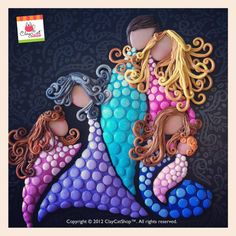 LIFE - The cycle of Life - Original Polymer Clay Art painting - OOAK. $190,00, via Etsy.
