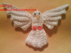 FREE PATTERN  ~ C ~ SCROLL DOWN FOR PATTERN ~ Dove Tree Ornament ~ TRANSLATED FROM ANOTHER LANGUAGE ~ = DIFFERENT CROCHET TERMS ~
