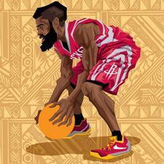 James Harden '2015 NBA All-Star' Caricature Art