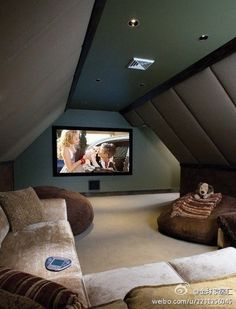 attic movie room...what to do to the playroom if we're here when the girls are teenagers.