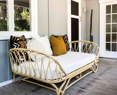 The Paris Day Bed is perfect for your verandah, sunroom, lounge room and also makes the cutest kids beds! Foam mattress included but you could swap with a stand Rattan Furniture, Bar Furniture, Pallet Furniture, Outdoor Furniture, Antique Furniture, Modern Furniture, Queen Murphy Bed, Murphy Bed Plans, Murphy Beds