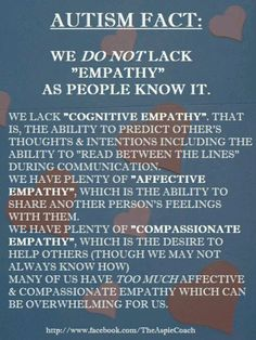 Autism Fact About Empathy