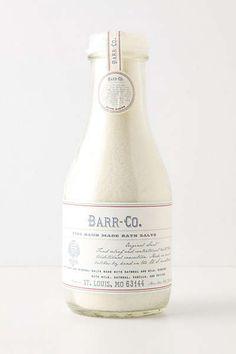 Anthropologie - Barr-Co. Fine Handmade Bath Salts
