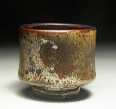Tea Bowl  Shino, over sprayed glaze with wood ash M Joe Smith