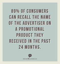 Promotional products belong in your marketing. They're effective, creative, and most importantly, they work. Here are 10 stats to prove the power of promos. Marketing And Advertising, Social Media Marketing, Digital Marketing, Promotional Printing, Promo Gifts, Corporate Identity Design, Business Motivation, Smart People, Quote Prints