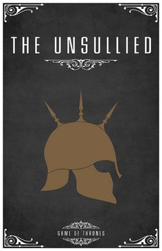 The Unsullied. Eunuch slave soldiers for hire. Imaginary fanmade Game of Thrones house sigil by Tom Gateley. http://www.flickr.com/photos/liquidsouldesign/sets/72157627410677518/