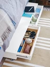 IKEA hack: Just add casters to the Ekby drawer shelf for some slide-out under-bed storage. {check it out -you'll be heading off to Ikea}