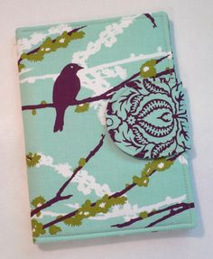 Kindle Cover, Kindle Paperwhite cover, iPad Mini, Nook Cover, Nook Color Cover, eReader Cover Book Style Aviary 2 Sparrows Plum on Etsy, $35.00