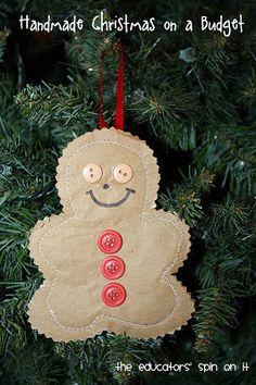 DIY Gingerbread Man Ornament - Christmas Kid Craft