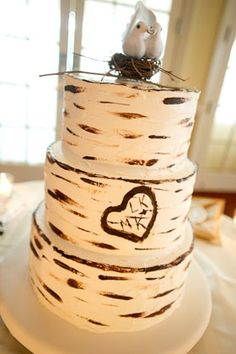This is the most adorable wedding cake ever.  I squealed when I saw it.  SO CUTE.  I'm not getting misty-eyed, I swear.