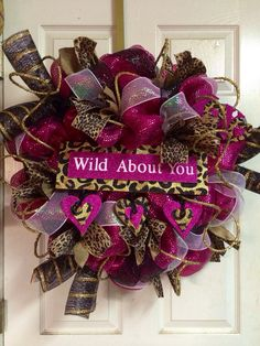 Valentines Day Wreath Reserved for Ashley C by HighMaintenanceDes