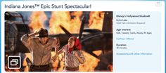 Disney Action! Does your family enjoy watching the Indiana Jones Epic Stunt Spectacular at Hollywood Studios?  Has anyone in your family or anyone you know been in the The Casting Call? That's the part where audience members can be in the show!