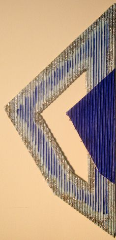 "Arrow 3. Acrylic on Bas-relief Cardboard. 21.5 x10"", 2016"
