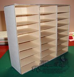 This could be done with core foam and using the shelves the same way I make card box