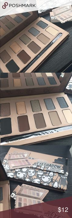 10 Eyeshadow palette! New! Seal 5 nude matte colors and 5 shimmer colors. Comes with black brush! Perfect fir day or night! Great for a gift! By Okalan Sephora Makeup Eyeshadow