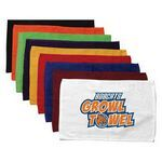 """Terry Loop Hemmed Finger Tip Towel - Colors (11""""X18"""") Item #QWYLG-GERZO Terry loop hemmed finger tip towel 1 Lbs/Dozen. This inexpensive rally towel is the best selling towel of all time it fits in everybody budget excellent choice for rally and stadium give away team logo school college trade show give away self promotion colleges great imprinting results available in white and varieties of colors. 11"""" W x 18"""" L www.impringolf.com"""