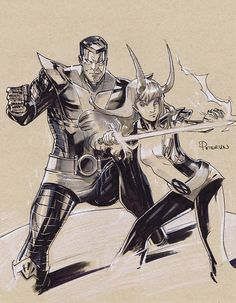 Colossus and Magik by Peter Nguyen *