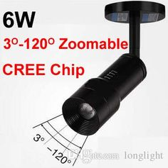 2016 Zoom Mini Led Spotight Cob Cree Chip 6w 85 265v Spot Led 3000k 4000k 5000k Luminaria Downlights Ceiling Lights Museum Cabinets Lighting From Longlight, $381.91 | Dhgate.Com