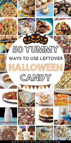 looking to use up your leftover Halloween candy? Here are 50 delicious ways to use up leftover Halloween candy that the whole family will love! Halloween Desserts, Halloween Cookies, Halloween Candy, Halloween Diy, Halloween Decorations, Halloween Dinner, Halloween Drinks, Halloween 2019, Halloween Stuff