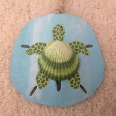 Sea Turtle, Hanu, Hand Painted Sand Dollar Ornament, Beach Ornament, Beach Christmas, Seashell Turtle