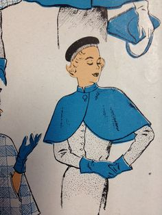 Vintage Pattern  Capes  1950s  4 Styles by dizzbrain on Etsy, $19.00