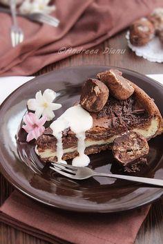 Cheesecake cu ciocolata - Pasiune pentru bucatarie- Retete culinare