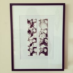 I love this idea for all of my photo strips!