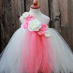 Custom Made Ivory Coral Flower Girl Dress - Infant - 8 Years - Coral Ivory Handmade Tutu Dress. Custom Made Ivory Coral Flower Girl Dress - Infant - 8 Years - Coral Ivory Handmade Tutu Dress on Tradesy Weddings (formerly Recycled Bride), the world's largest wedding marketplace. Price $74.00...Could You Get it For Less? Click Now to Find Out!