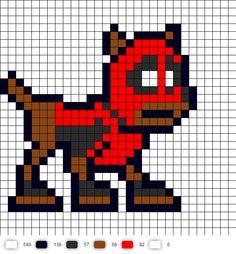 Dogpool Perler Bead Pattern