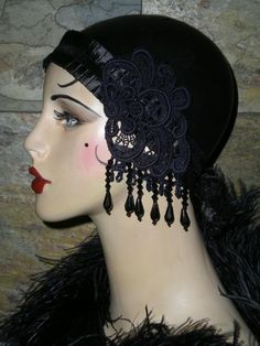 One of a Kind Vintage Roaring 20's Inspired Headband by Graceful Butterfly, winner of the 2012 Hatty Award