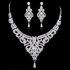 Hey, I found this really awesome Etsy listing at https://www.etsy.com/listing/162134287/swarovski-crystal-bridal-necklace