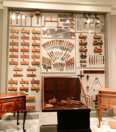 A  Display of Alexander Forbes Tools & His Tool Chest from the Mid-Late 19th century.