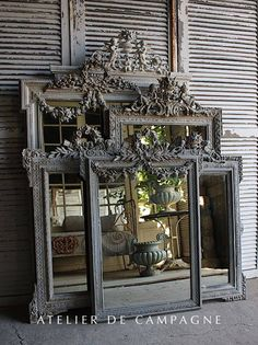 Antique Vintage Decor import of french antiques for home and garden, Mirror, Garden Elements, Chandeliers, Painted Furniture - Country Decor, Decor, Beautiful Mirrors, Vintage House, Vintage Bathroom Decor, Vintage Mirrors, Vintage Decor, Mirror, Home Decor