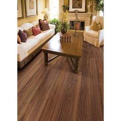Hampton Bay Hand Scraped Walnut Plateau 8 mm x 5-9/16 in. Wide x 47-3/4 in. Length Laminate Flooring (40 cases/738 sq. ft. / pallet)-HL1003-40 - The Home Depot