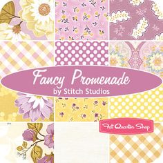 Promenade by Stitch Studios for Riley Blake.  Love the purple colorway (and blue, and yellow)!!