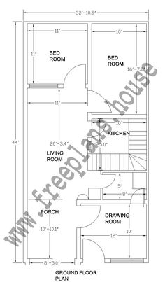 18x36 Feet First Floor Plan Plans In 2019 House Plans