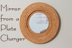 Woven Mirror Knock Off from a $1 Plate Charger at The Country Chic Cottage @Angie Countrychiccottage