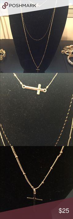 Layered cross necklace Layered cross necklace Jewelry Necklaces