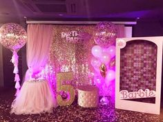 Fabulous Princess Birthday Decorations - Best Resources and Party Service Guide Barbie Theme Party, Barbie Birthday Party, Princess Birthday, Princess Party, Birthday Parties, 5th Birthday, Barbie Decorations, Birthday Party Decorations, Quinceanera Planning