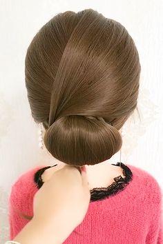 Hairdo For Long Hair, Bun Hairstyles For Long Hair, Hair Style Vedio, Hair Tutorials For Medium Hair, Hair Upstyles, Front Hair Styles, Hair Videos, Hair Designs, Hair Hacks